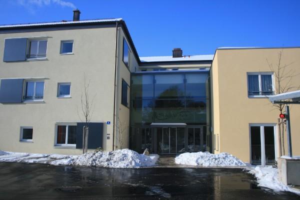 Stadtgarten Wolfratshausen Winter Eingang